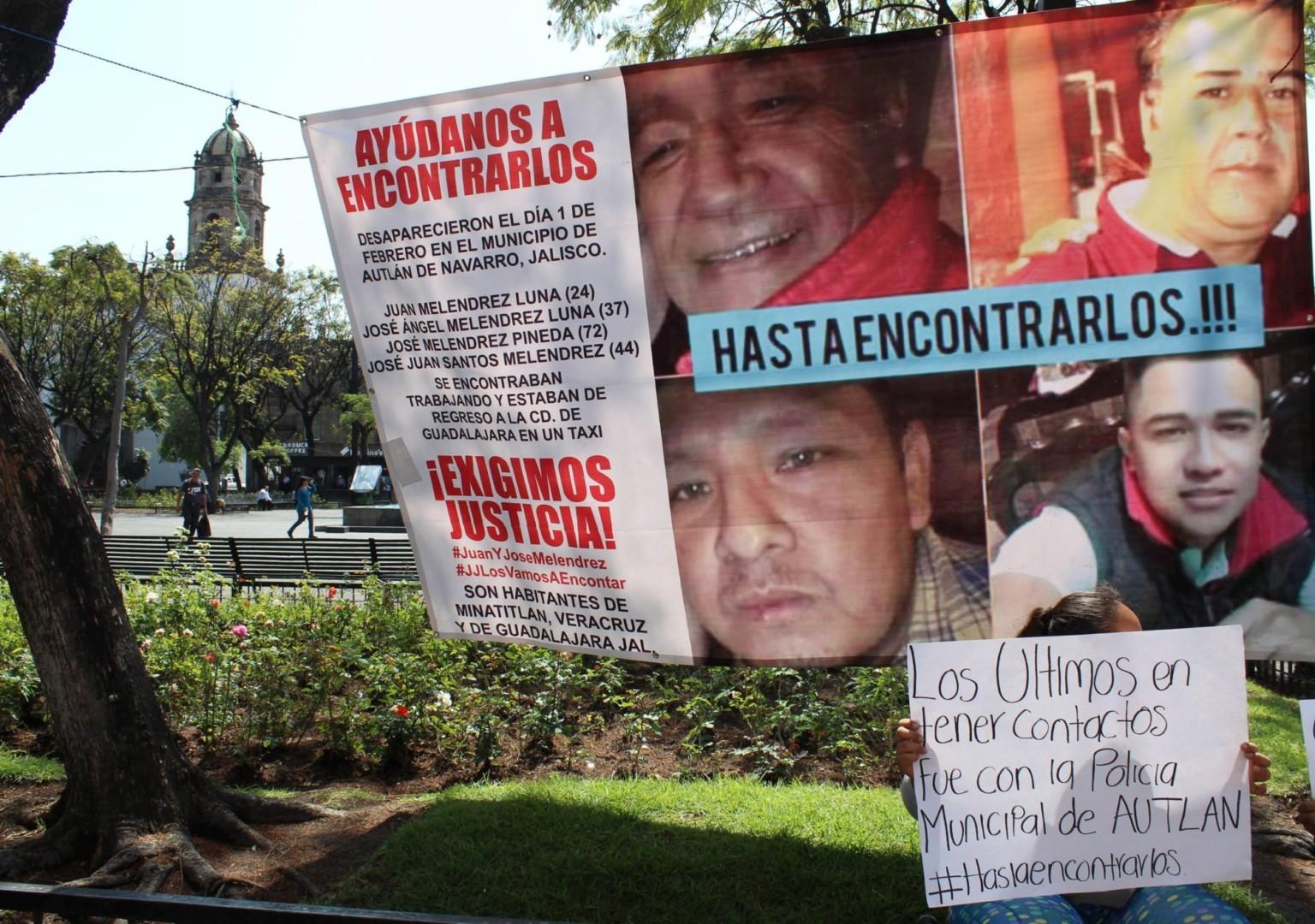 A tres años de su desaparición, no existen avances de veracruzanos desaparecidos en Jalisco
