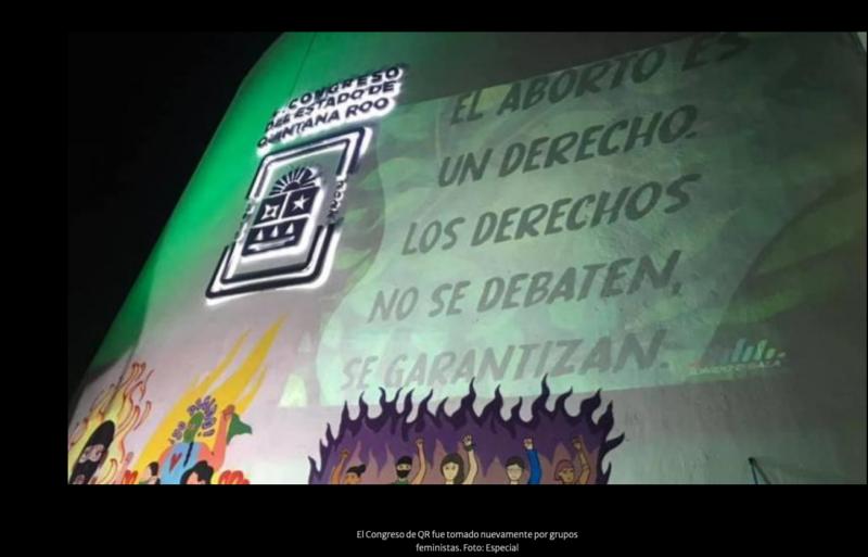 Feministas vuelven a tomar Congreso de QR por incumplimiento de acuerdo sobre aborto