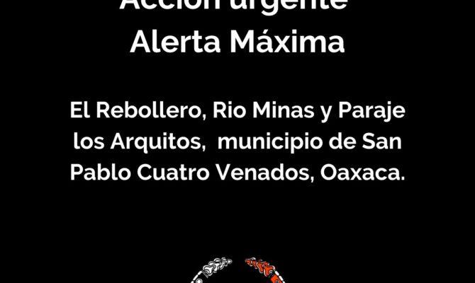 Acción Urgente. Denuncia comunidades indígenas pertenecientes a Cuatro Venados, Oaxaca.