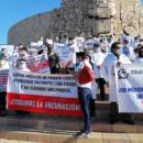 Personal de salud protesta en Yucatán: Exige vacunación sin distinción