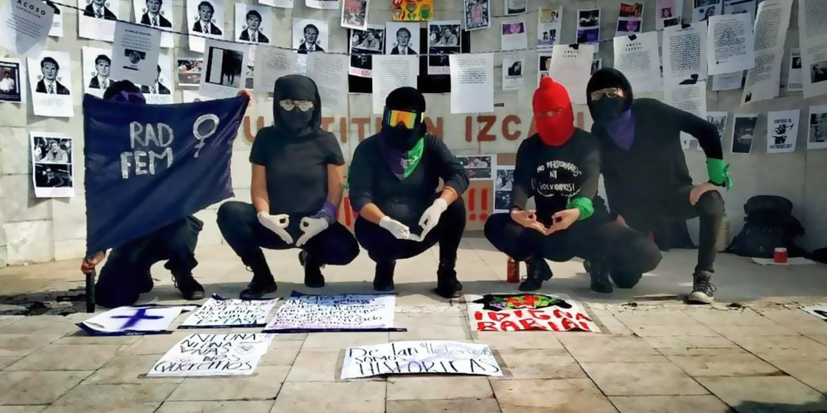Protestan mujeres en Cuautitlán Izcalli por feminicidios y caso Salgado Macedonio (Estado de México)