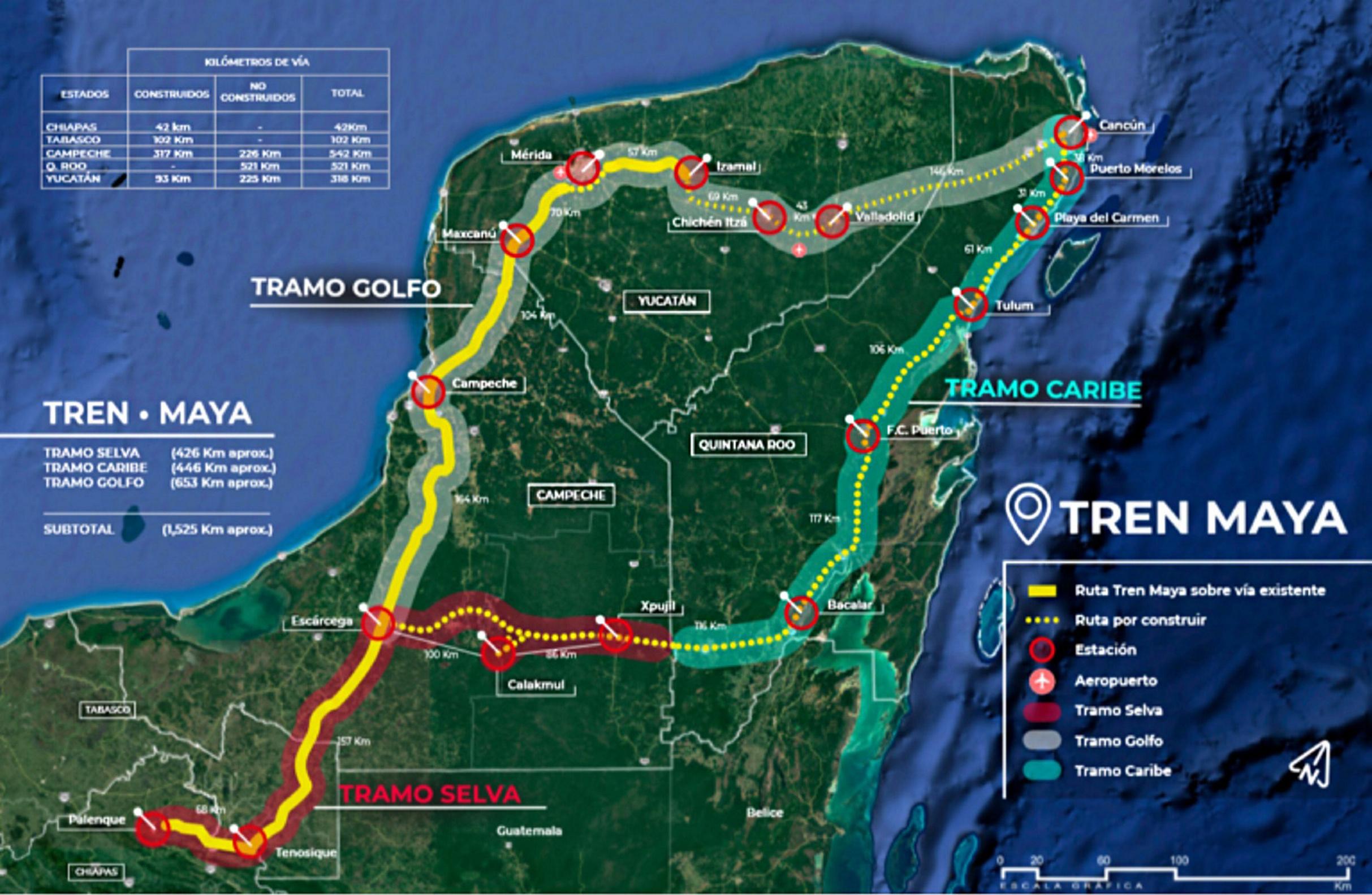 """El mal llamado """"Tren Maya"""" acumula tres nuevas suspensiones en Yucatán"""