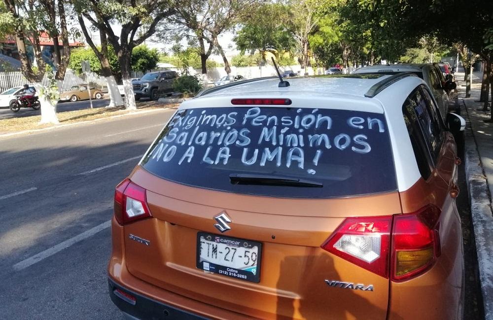Terminarán protestas de jubilados cuando pensiones se paguen en salarios mínimos (Colima)