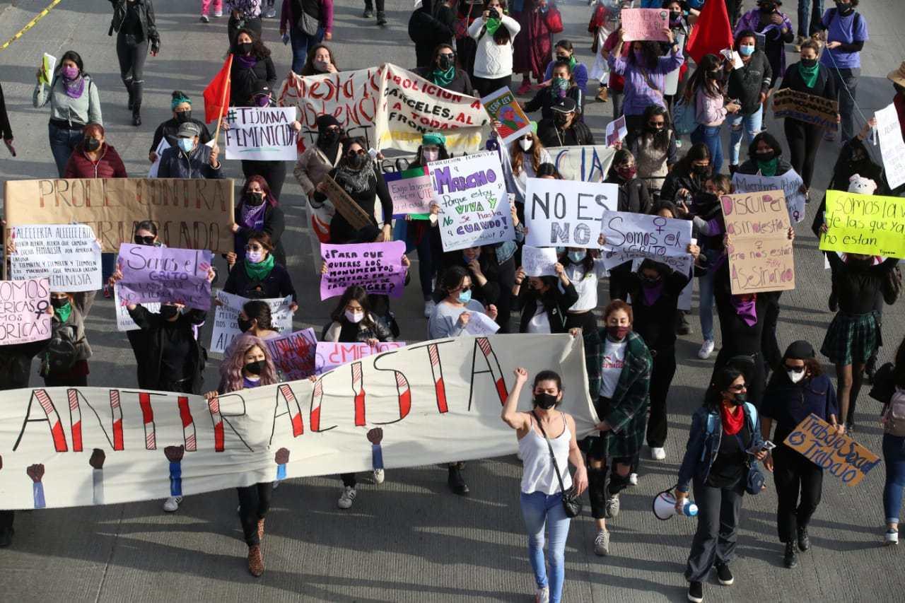 Mujeres piden justicia en Tijuana (Baja California)