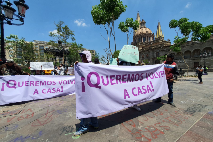 Familias desplazadas por violencia en Teocaltiche, Jalisco