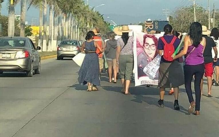 Con marcha exigen a autoridades avances en la investigación por desaparición de Wendy (Nayarit)