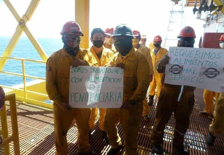 Obreros corren riesgo por prácticas antihigiénicas en plataformas ( Campeche)