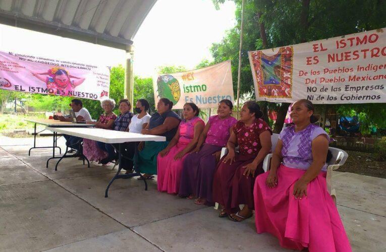 Comunidades indígenas reunidas en el Istmo exigen la cancelación del Corredor Interoceánico (Oaxaca)