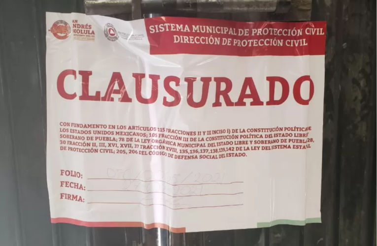 Clausuran perforación de pozo de Junghanns en Tlaxcalancingo por no contar con permisos (Puebla)