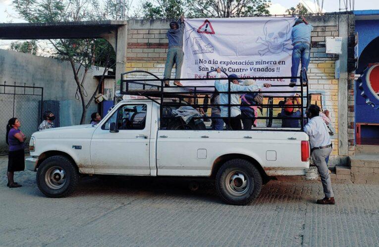 Campesinos en Oaxaca reafirman su rechazo al avance de la minería