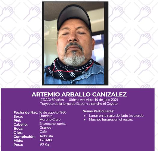 Artemio Arballo, otro integrante de la tribu yaqui, desaparece en Sonora