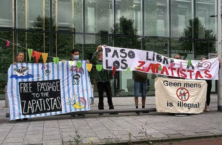 Semana de acciones en varias ciudades europeas para pedir vía libre para la delegación zapatista