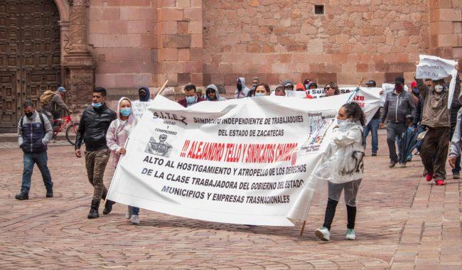 Se suma SITEZ a protestas contra reforma a la Ley de Issstezac (Zacatecas)