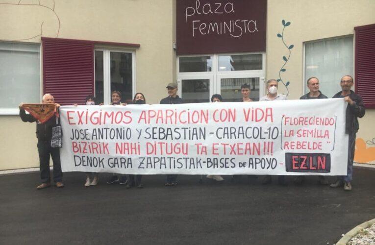 """En Euskal Herria (País Vasco) exigen la presentación con vida de las 2 autoridades autónomas zapatistas secuestradas y se preparan para recibir a """"La Extemporánea"""""""