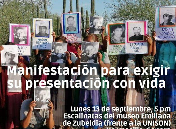 Mujeres yaquis de Loma de Bácum marcharán por familiares desaparecidos; no hay noticias de su paradero (Sonora)