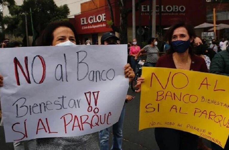 Vecinos se oponen a construcción de Banco del Bienestar en parque de Coyoacán, CdMx