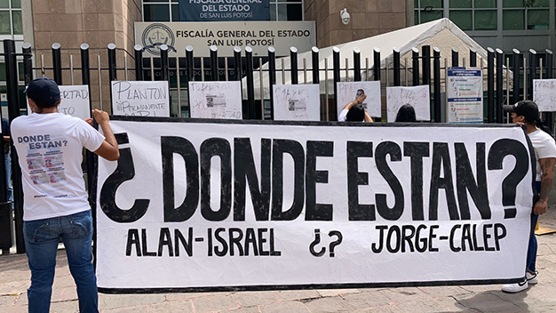 Familiares exigen que se dé con el paradero de los jóvenes potosinos desaparecidos en Jalisco