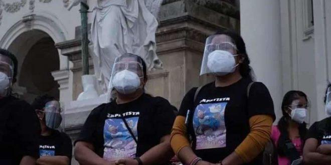 Inician protestas en Europa para exigir la presentación con vida de zapatistas secuestrados en Chiapas