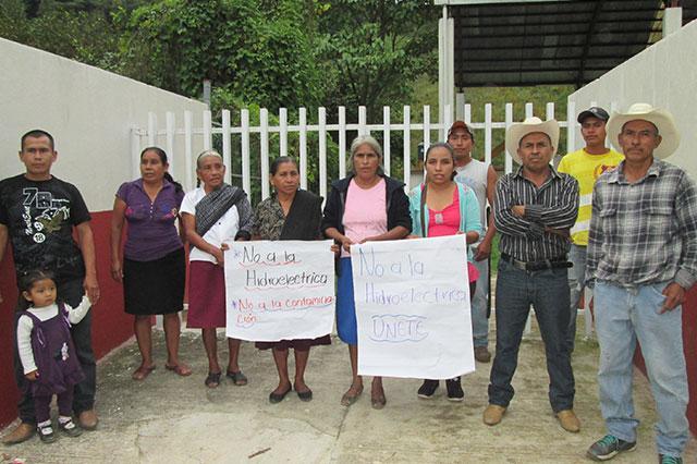 Comunidades de Tlapacoya protestan contra hidroeléctrica