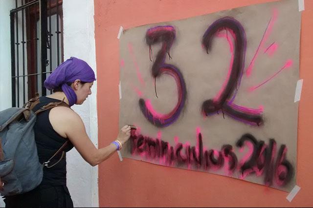 Marchan en Puebla contra los 32 feminicidios ocurridos este año