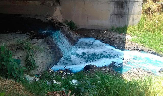 Lavandería contamina río y tierras en comunidad de Huejotzingo (Puebla)