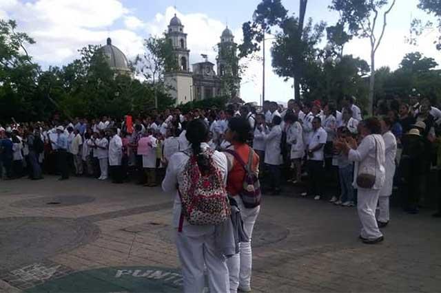 Respaldan médicos de Tehuacán protestas de homólogos en Puebla