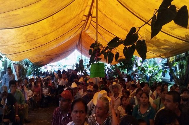 Se reúnen 223 pueblos opositores a hidroeléctricas en el estado de Puebla