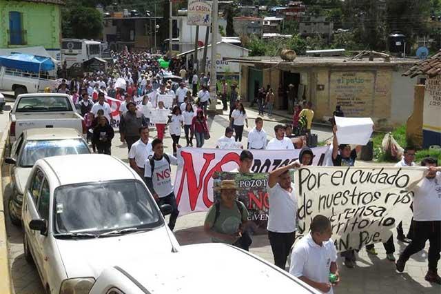 Buscan habitantes de la Sierra Norte amparo contra hidroeléctrica en Pozotitla (Puebla)