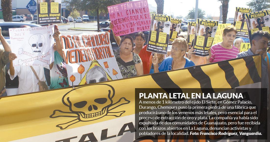 Planta de cianuro que no entró a Guanajuato llega a Durango, con fiesta de Gobernador y Alcaldesa
