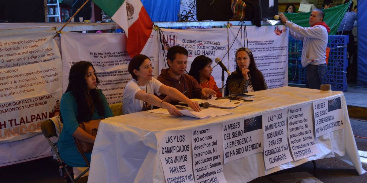Crean Red Nacional de Damnificados (CDMX)