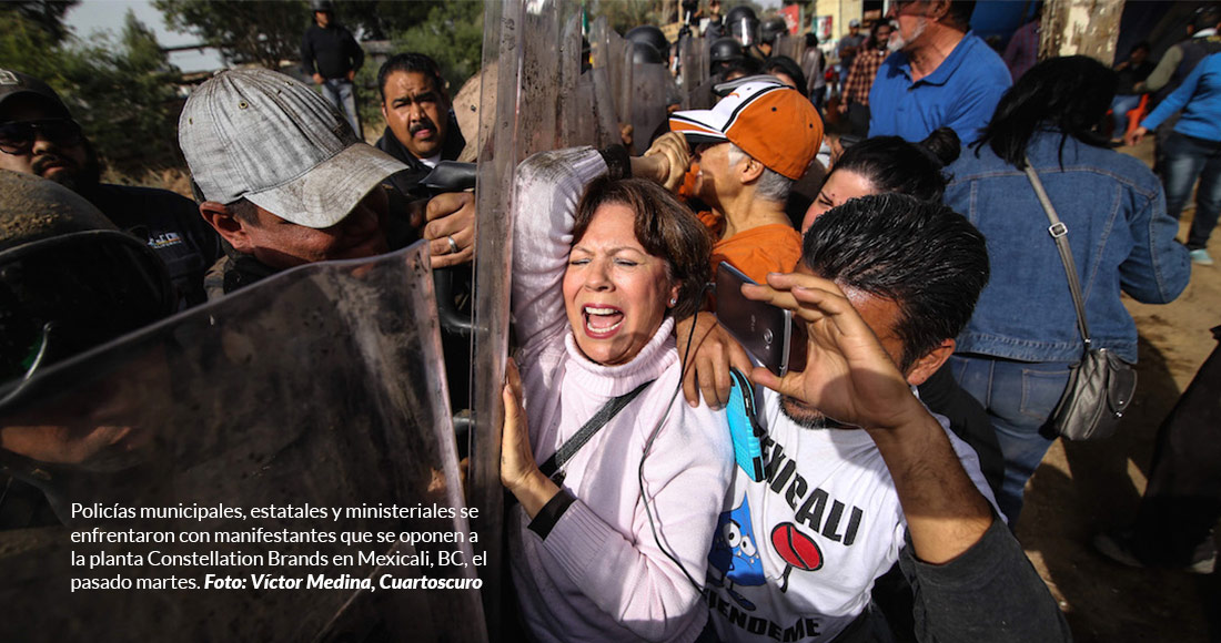 """Mexicali Resiste advierte, luego de la golpiza, que la lucha por el agua no la paran ni """"Kiko"""" ni nadie"""