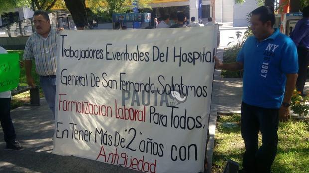 Demandan plazas en hospitales de Tamaulipas