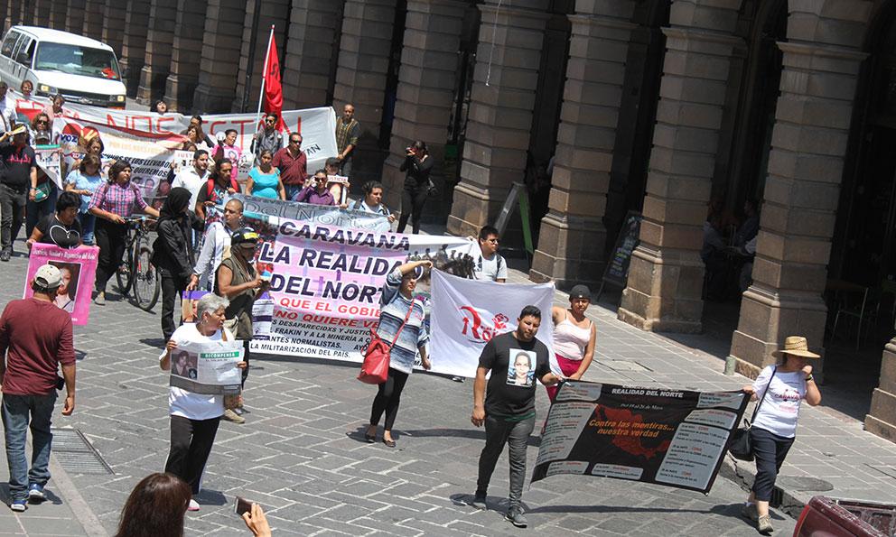 Caravana de la Realidad del Norte llega a San Luis (San Luis Potosí)