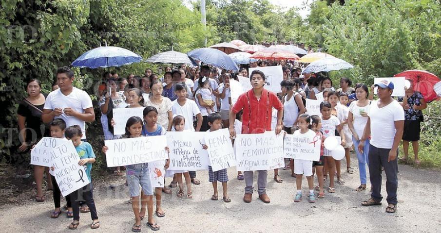 """Tahdziú clama """"Justicia para Ana Cristina"""" (Yucatán)"""