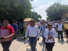 Marchan damnificados del sismo del 7S por falta de apoyo (Oaxaca)