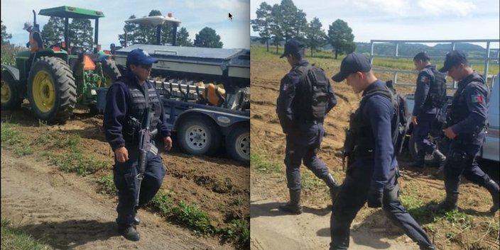 Con policía imponen granja para más de un millón de cerdos en Puebla