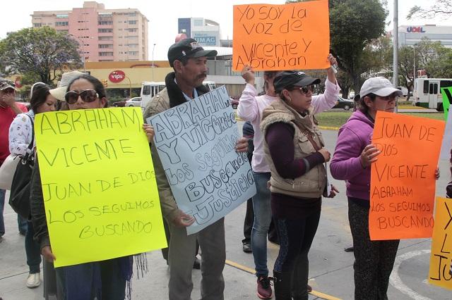 Marchan madres por sus hijos desaparecidos en el Triángulo Rojo (Puebla)