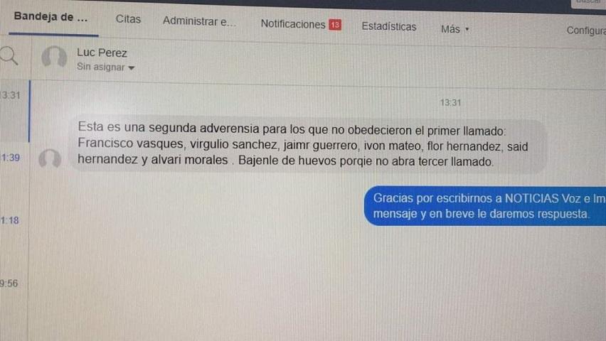"""Amenazan a seis periodistas; """"bájenle de huevos porque no habrá tercer llamado"""" (Oaxaca)"""