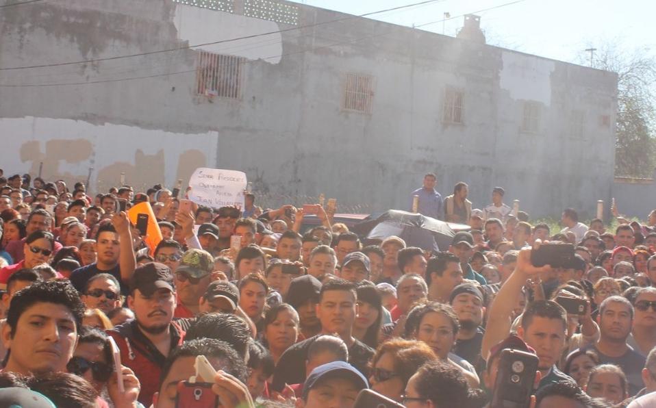 Obreros protestan en Matamoros y piden huelga (Tamaulipas)
