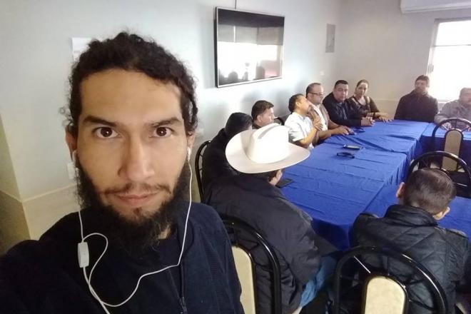Protestan periodistas en BCS por el asesinato de su colega Rafael Murúa