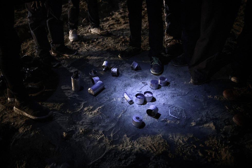 Enfrentamiento entre migrantes y agentes fronterizos en Tijuana, fotoreportaje (Baja California)