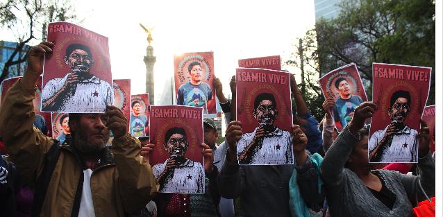 """""""Samir no murió, el Estado lo mató"""", clamor de miles en la marcha para exigir justicia. Se anuncia boicot a consulta impuesta. (CDMX)"""