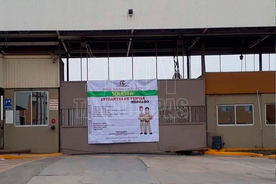 Empresa refresquera en paro, ofrece vacantes en Matamoros (Tamaulipas)