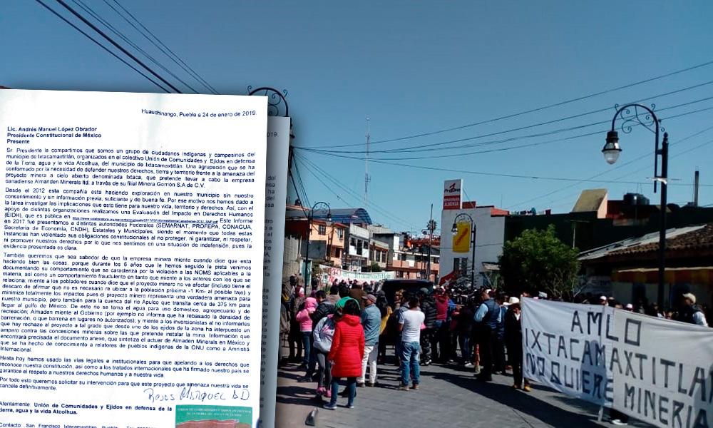 Dan a AMLO oficio para frenar minera Almaden Minerals (Puebla)