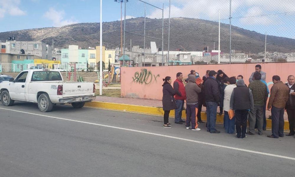Por escasez de agua, protestan vecinos de Campo de Tiro (Hidalgo)