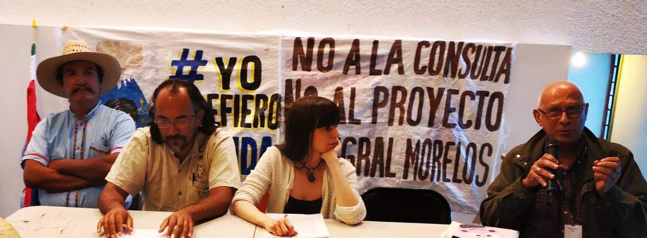 """""""Tenemos derecho a decidir el futuro que queremos"""": foro contra el Proyecto Integral Morelos en la UNAM (CDMX)"""