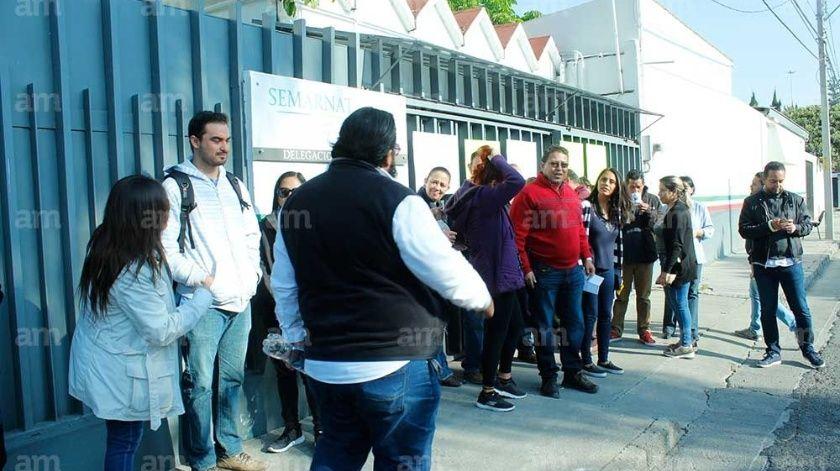Se une Semarnat Guanajuato a protesta nacional, exigen pagos atrasados