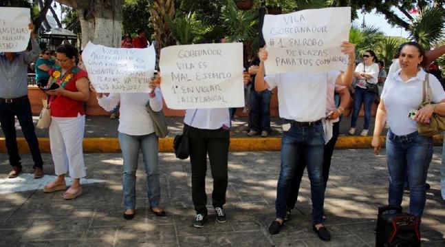 Protesta por sus despidos (Yucatán)