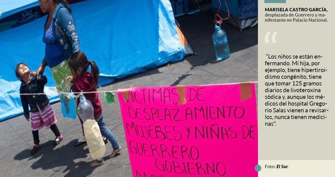 Los niños no pisan escuela. Viven frente a Palacio Nacional. Sólo piden paz, para volver a su casa (Ciudad de México)