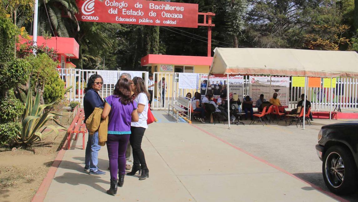 Sin clases, 36 mil alumnos del COBAO (Oaxaca)
